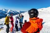 Selfie sur les pistes de ski