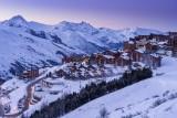 Vue sur la station des Menuires dans les 3 Vallées en Savoie